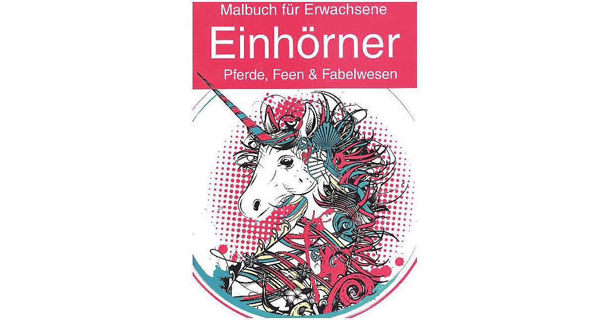 Malbuch Erwachsene: Einhörner, Pferde, Feen & Fabelwesen Kinder