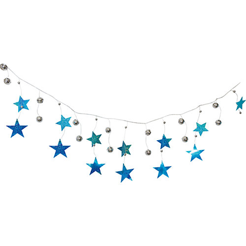 Новогодняя гирлянда Magic Land шарики, звезды и нити, 2 м