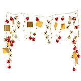Новогодняя гирлянда Magic Land красно-золотые шары, 1,3 м
