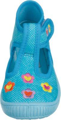 SUPERFIT Baby Hausschuhe BULLY für Mädchen, Blumen, Weite M3