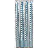 """Набор свечей """"Классика"""" 25 см, 4 шт (голубые)"""