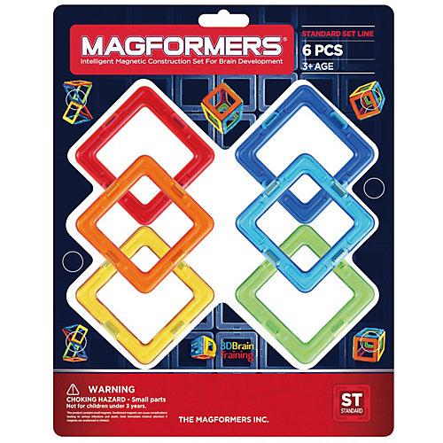 """Магнитный конструктор Magformers """"Квадраты 6"""" от MAGFORMERS"""
