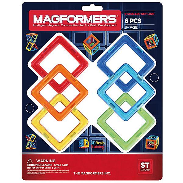"""Магнитный конструктор Magformers """"Квадраты 6"""""""