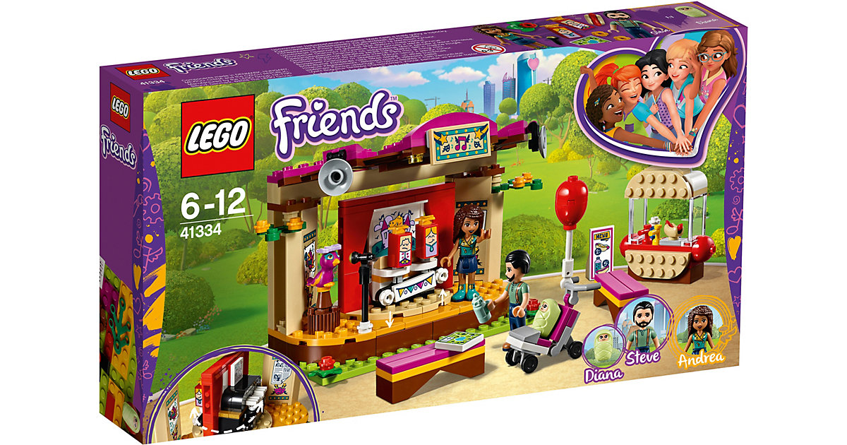 LEGO 41334 Friends: Andreas Bühne im Park