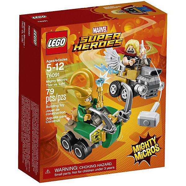 LEGO 76091 Super Heroes: Mighty Micros: Thor vs. Loki, Marvel Avengers