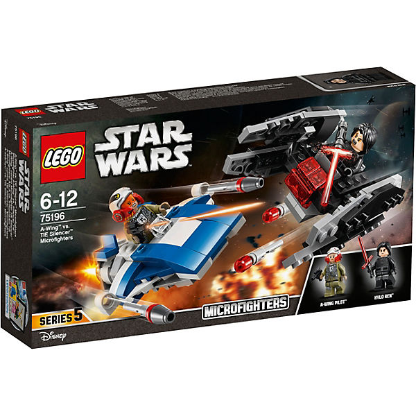 LEGO 75196 Star Wars: A-Wing™ vs. TIE Silencer™ Microfighters