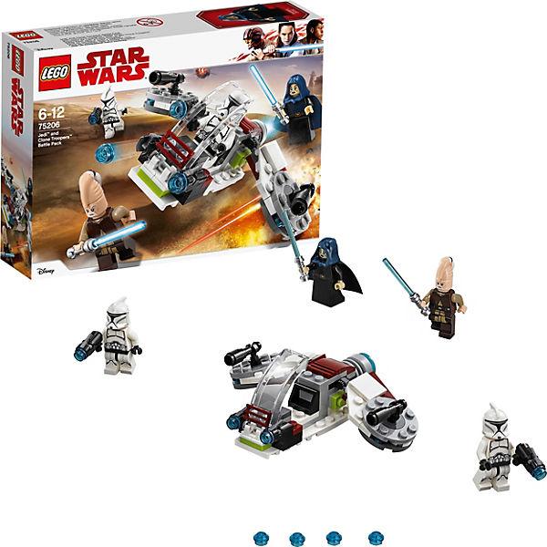Конструктор LEGO Star Wars 75206: Боевой набор джедаев и клонов-пехотинцев