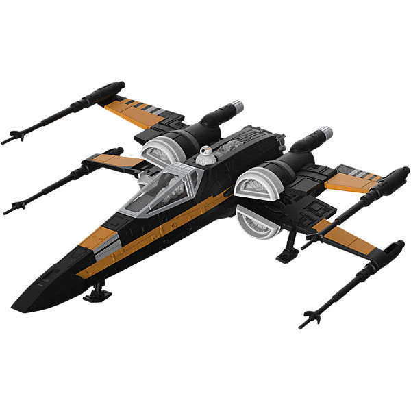 Revell Modellbausatz - Star Wars Poe& 039;s Boosted X-wing Fighter, Star Wars