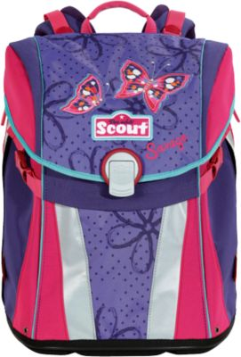 """Ранец Scout """"Sunny"""" Бабочки с наполнением"""