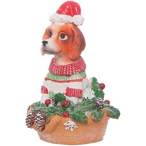 Декоративная фигурка Magic Time Собака с ёлочкой, 11 см от Magic Time
