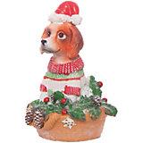 Декоративная фигурка Magic Time Собака с ёлочкой, 11 см