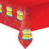 """Скатерть Патибум """"Торт яркий"""" полиэтиленовая, 140х180 см."""