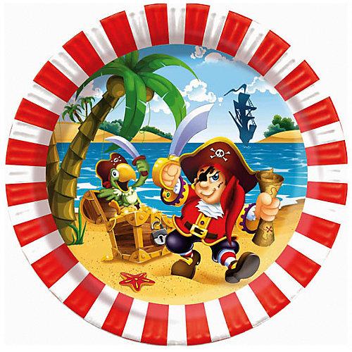 """Тарелки Патибум """"Весёлый пират"""" 23 см. ламинированные, 6 шт. от Патибум"""