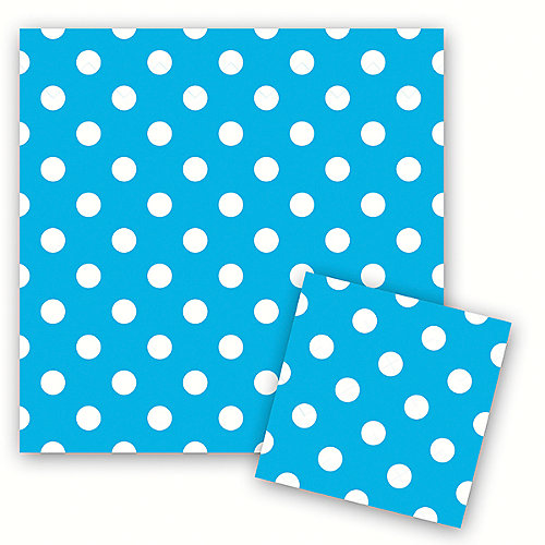 "Салфетки Патибум ""Горошек голубой"" 33х33 см., 12 шт. от Патибум"
