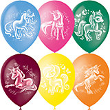 """Воздушные шары Latex Occidental """"Волшебные лошадки"""" 50 шт., пастель + декоратор"""