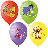 """Воздушные шары Latex Occidental """"Дисней. Винни-Пух"""" 25 шт., пастель + декоратор (шёлк)"""