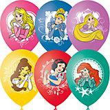 """Воздушные шары Latex Occidental """"Принцессы Дисней"""", 25 шт., пастель + декоратор (шёлк)"""