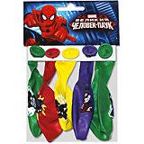 """Воздушные шары Latex Occidental """"Марвел. Человек-паук"""" 5 шт., пастель + декоратор (шёлк)"""