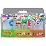 """Свечи-буквы для торта Патибум """"С днём рождения. Весёлые буквы"""" 3 см."""
