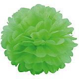 """Украшение для праздника Патибум """"Помпон"""" 20 см., светло-зелёный"""