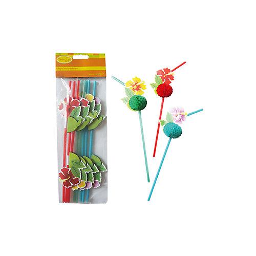 """Трубочки для коктейля  Патибум """"Цветы Гаваи"""" 8 шт. от Патибум"""