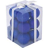 Набор елочных шаров Magic Land 12 шт, 6 см (синие)