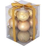 Набор елочных шаров Magic Land 12 шт, 6 см (золотые)