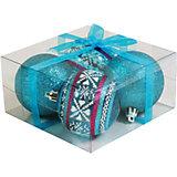 Набор елочных шаров Magic Land 4 шт, 7 см (синие)