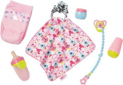 Puppen-Zubehör Baby-Puppe Flasche Windel Accessoires-Set Baby Born Zapf