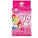 """Карточки развивающие """" Дисней  Принцессы"""" """"Учим алфавит и цифры"""" 36 карточек"""