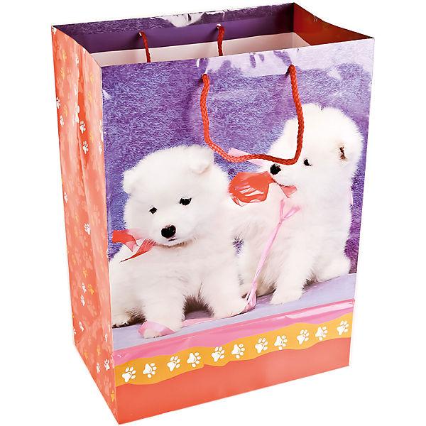 """Пакет подарочный """"Собачки"""" 33*46*20 см"""
