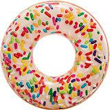 Большой надувной круг Intex Шоколадный пончик с глазурью
