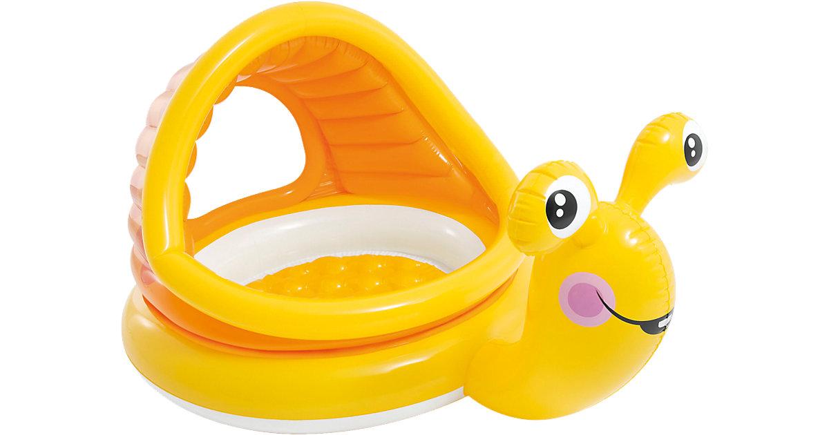 Baby Planschbecken faule Schnecke orange/gelb