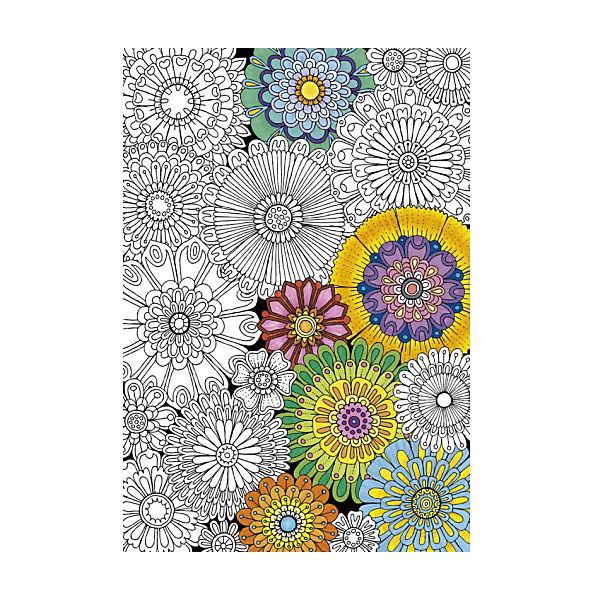 """Пазл-раскраска Educa """"Цветы"""", 300 деталей"""