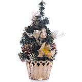 Новогоднее украшение - ёлка- 20 см, в полибеге