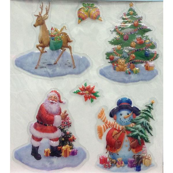 Лист с декоративными новогодними наклейками