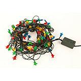 Электрическая гирлянда Новогодняя сказка Звёздочки 100 миниламп, 3,8 м