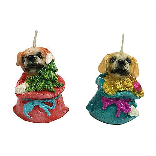 Свеча Собачка в подарке 5 см от Новогодняя сказка