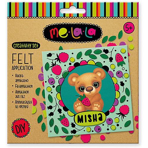 "Набор для создания аппликации из фетра ""Мишка Misha"" от MeLala"