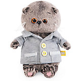 Мягкая игрушка Budi Basa Кот Басик Baby в сером пиджачке, 20 см