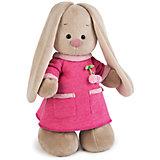 Мягкая игрушка Budi Basa Зайка Ми в розовом платье с вишенкой, 25 см