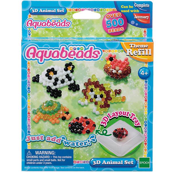 """Мозаика из бусин Aquabeads """"Зверюшки в 3D"""""""