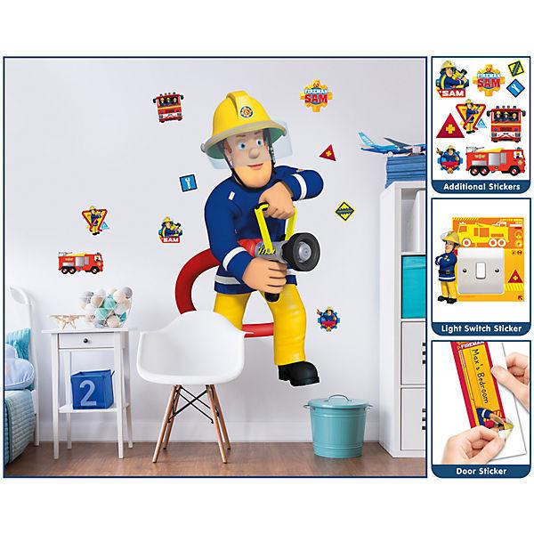Wandsticker Feuerwehrmann Sam Xxl Feuerwehrmann Sam Mytoys