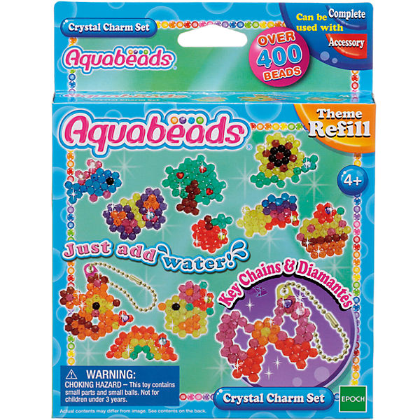"Мозаика из бусин Aquabeads ""Потрясающие брелочки"", 400 бусин"