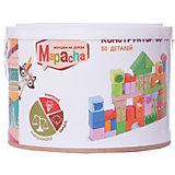 Деревянный конструктор Mapacha, 50 деталей (в ведре)