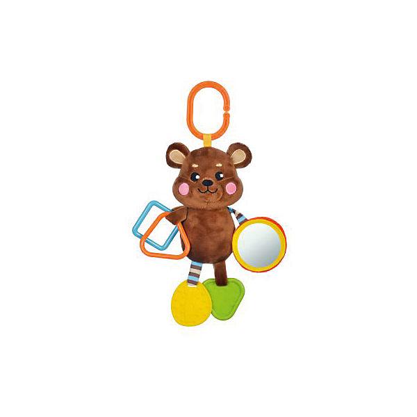 """Подвеска Жирафики """"Мишка"""" с прорезывателем и зеркальцем"""