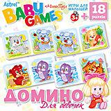 Настольная игра Origami Домино+пазл, 18 деталей, для девочек