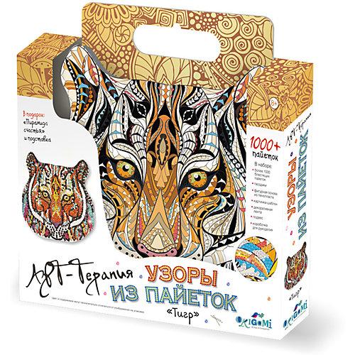 Арт-терапия. Узоры из пайеток (1000+ пайеток). Тигр. Арт. 02716 от Origami