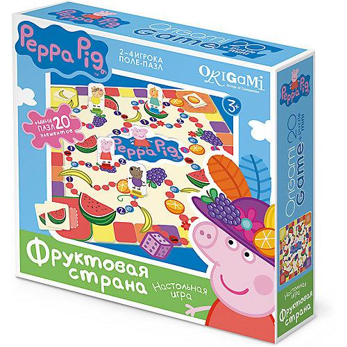 Свинка Пеппа.Наст.игра.поле-пазл+Пазл20Эл.Фруктовая страна.01585 от Origami
