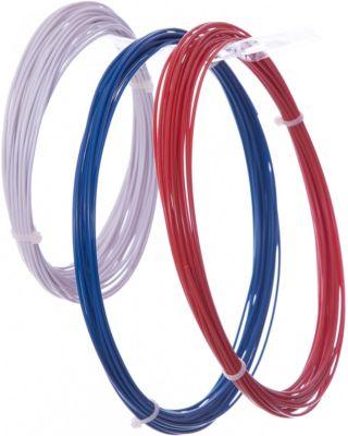Комплект ABS-пластика ESUN 1.75 мм, (белый, синий, красный)